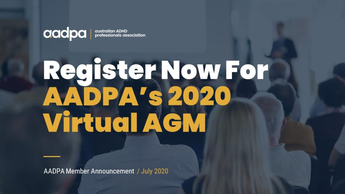 Register Now For AADPA's 2020 Virtual AGM