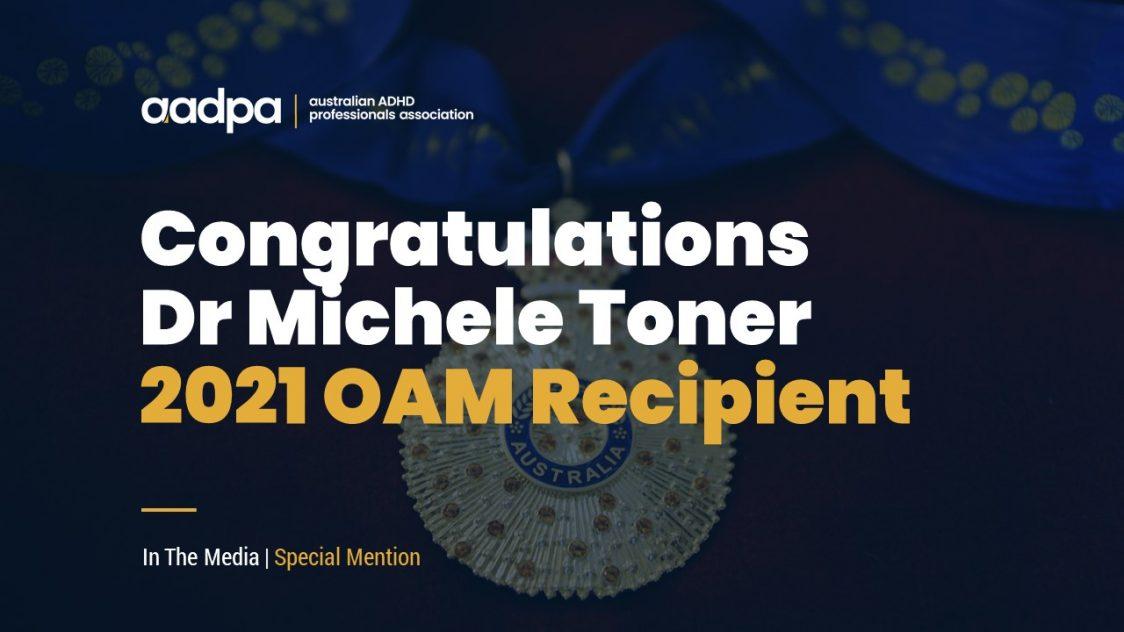 Dr Michele Toner Order of Australia Medal